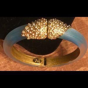 Alexis Bittar Crystal-Encrusted Hinge Bracelet